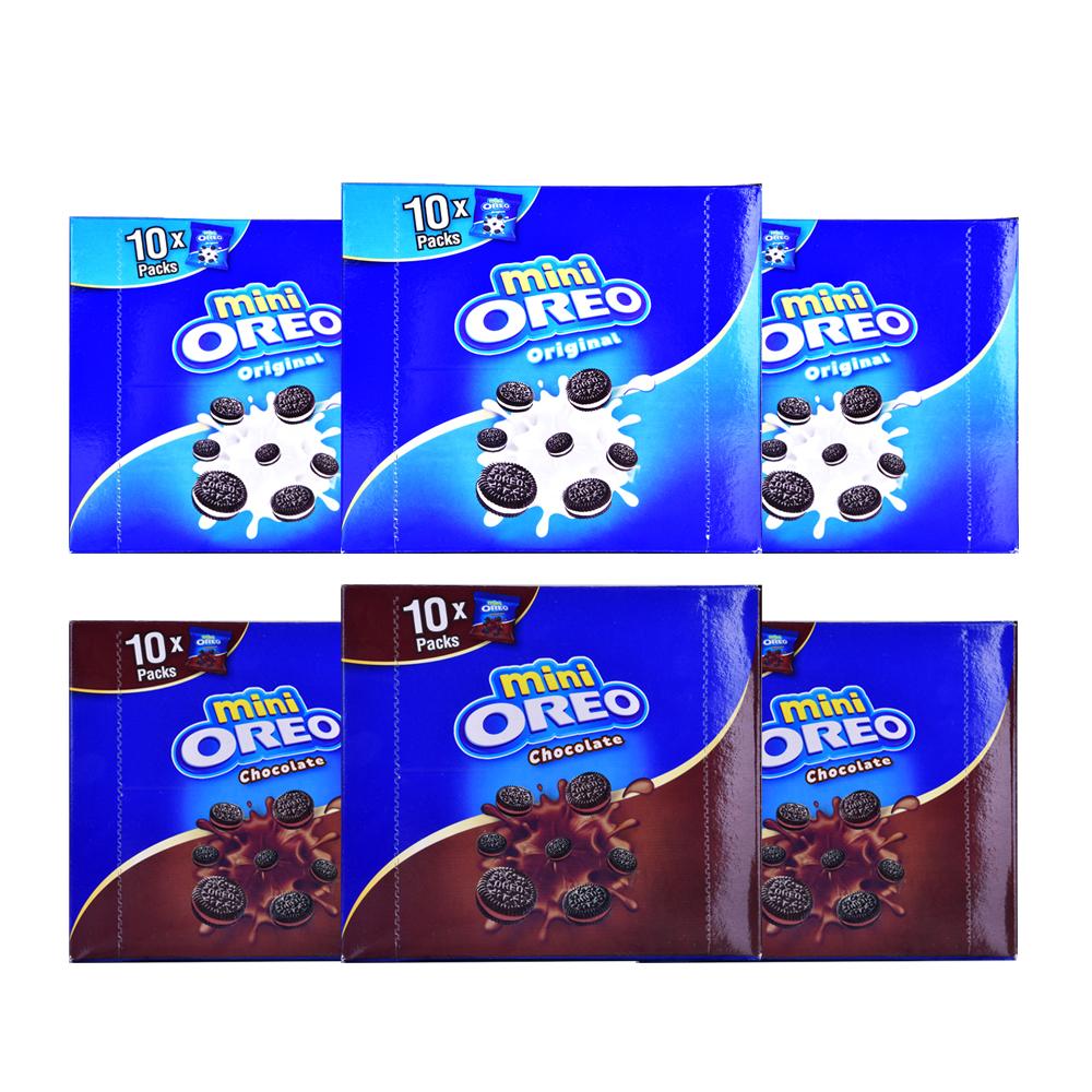 오레오 미니 쿠키 204g x 3p + 초콜릿맛크림 204g x 3p 세트, 1세트
