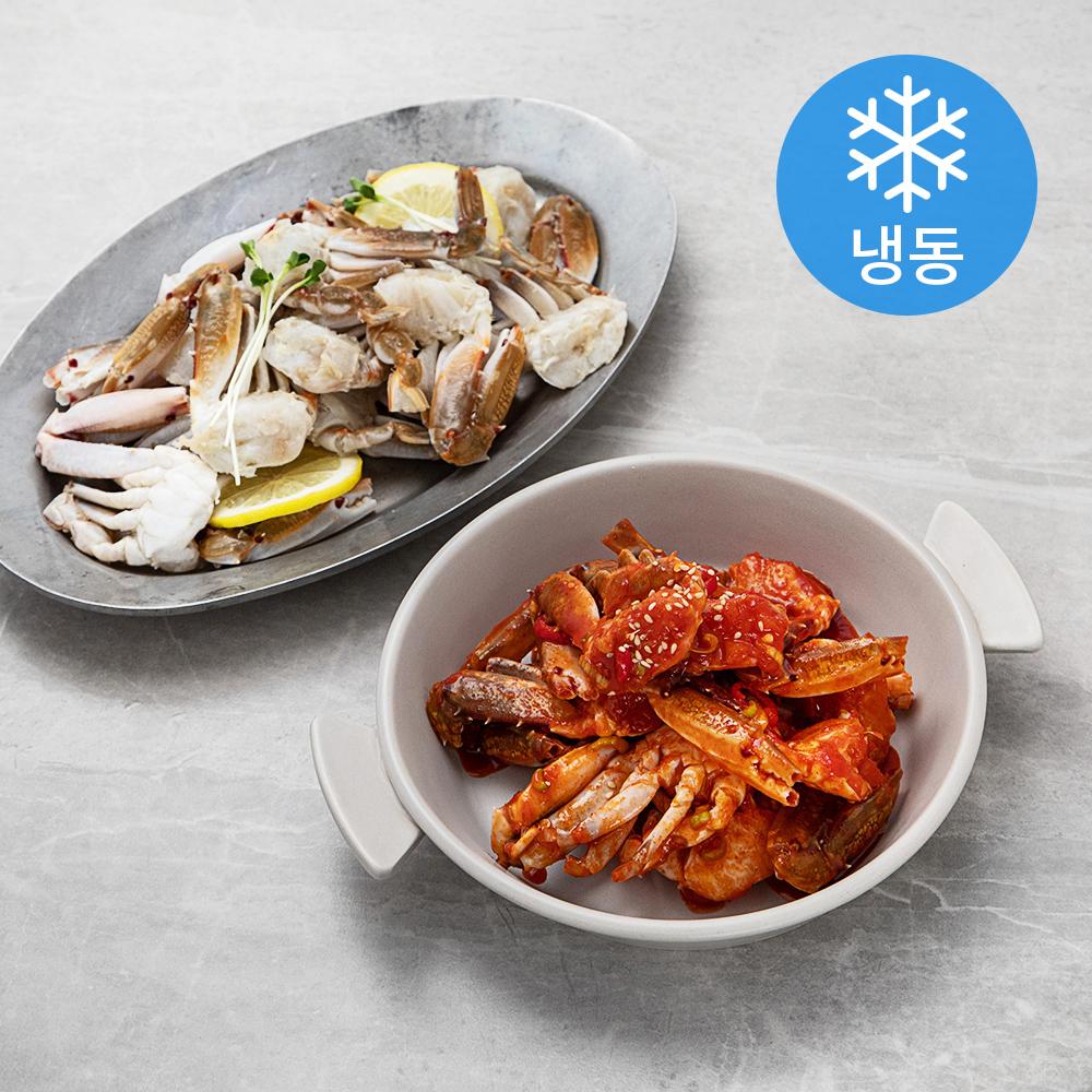 서풍앤쿡 손질 절단게 대 (냉동), 900g, 1개