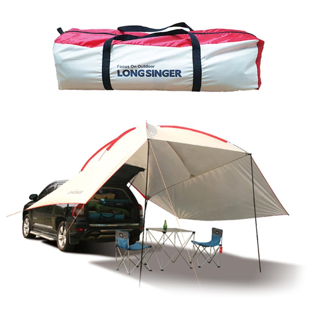 LONGSINGER 캠핑용 차박텐트 + 전용가방, 화이트