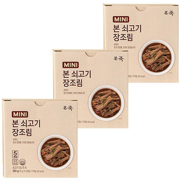 [통조림] 본죽 본 쇠고기 미니 장조림, 70g, 15개 - 랭킹19위 (33460원)