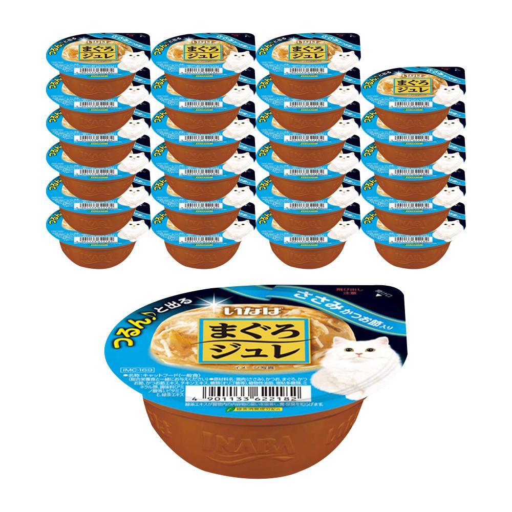 이나바 마구로쥬레 고양이간식 IMC169, 닭가슴살 + 가다랑어 혼합맛, 24개