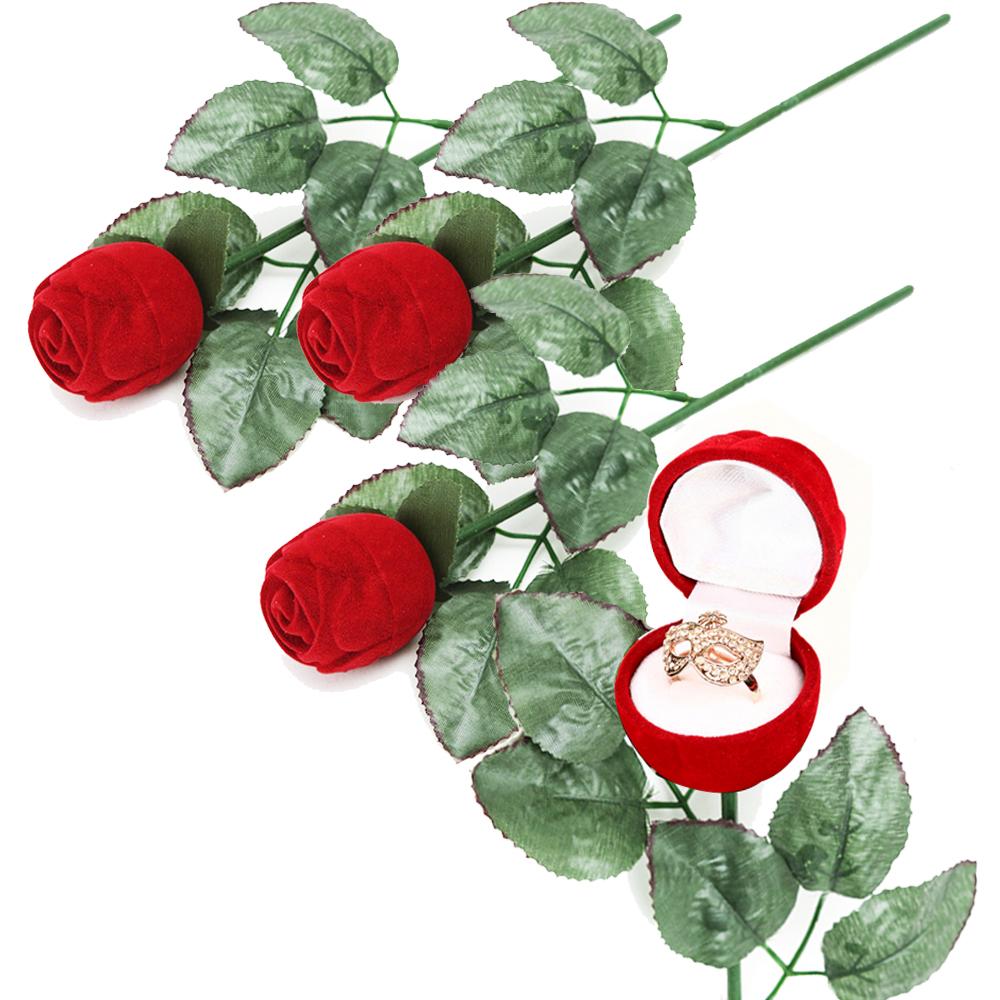 장미 반지 케이스, 혼합색상, 4개