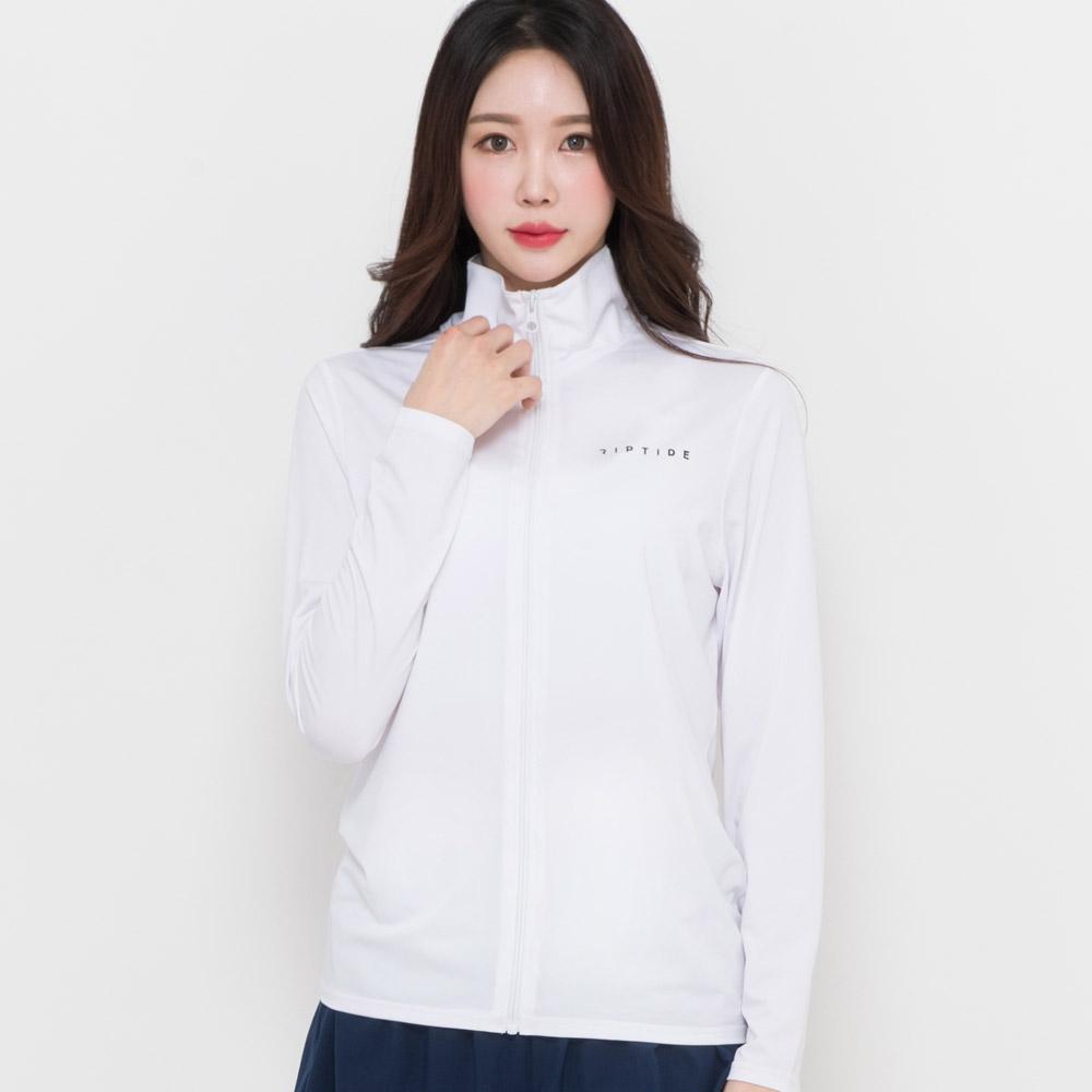 헤링본 여성용 루즈핏 빅사이즈 원더 집업 래쉬가드 RC903