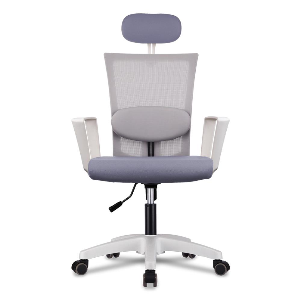 체어스코 네이처 화이트바디 라텍스 + 허리받침 책상의자, 메탈그레이