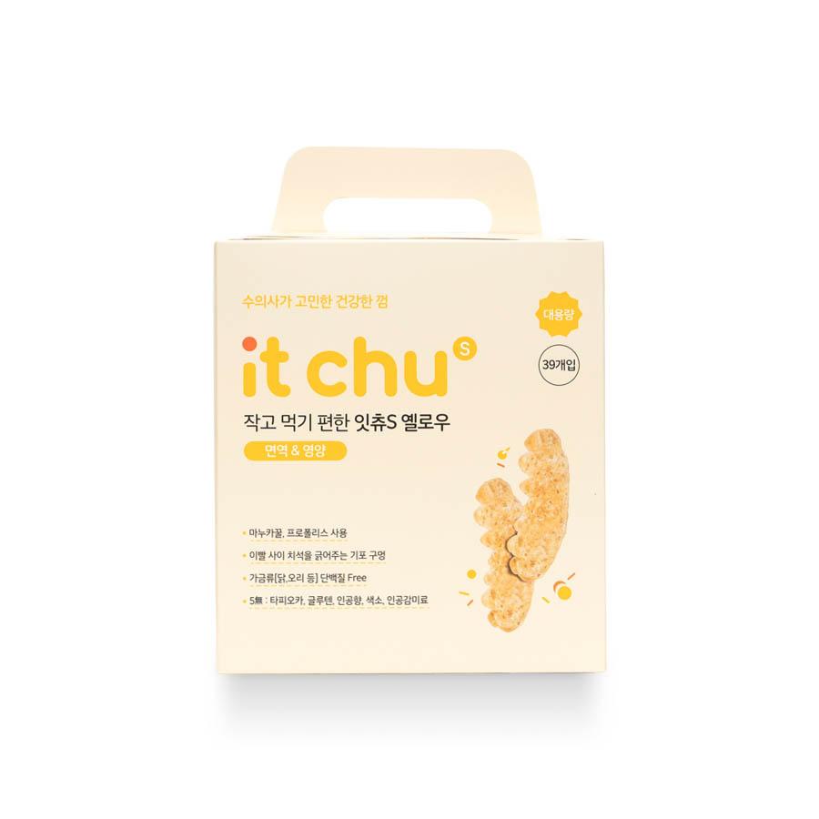 잇츄 S 옐로우 강아지 덴탈껌 39개입, 마누카꿀 + 프로폴리스 혼합맛, 39개