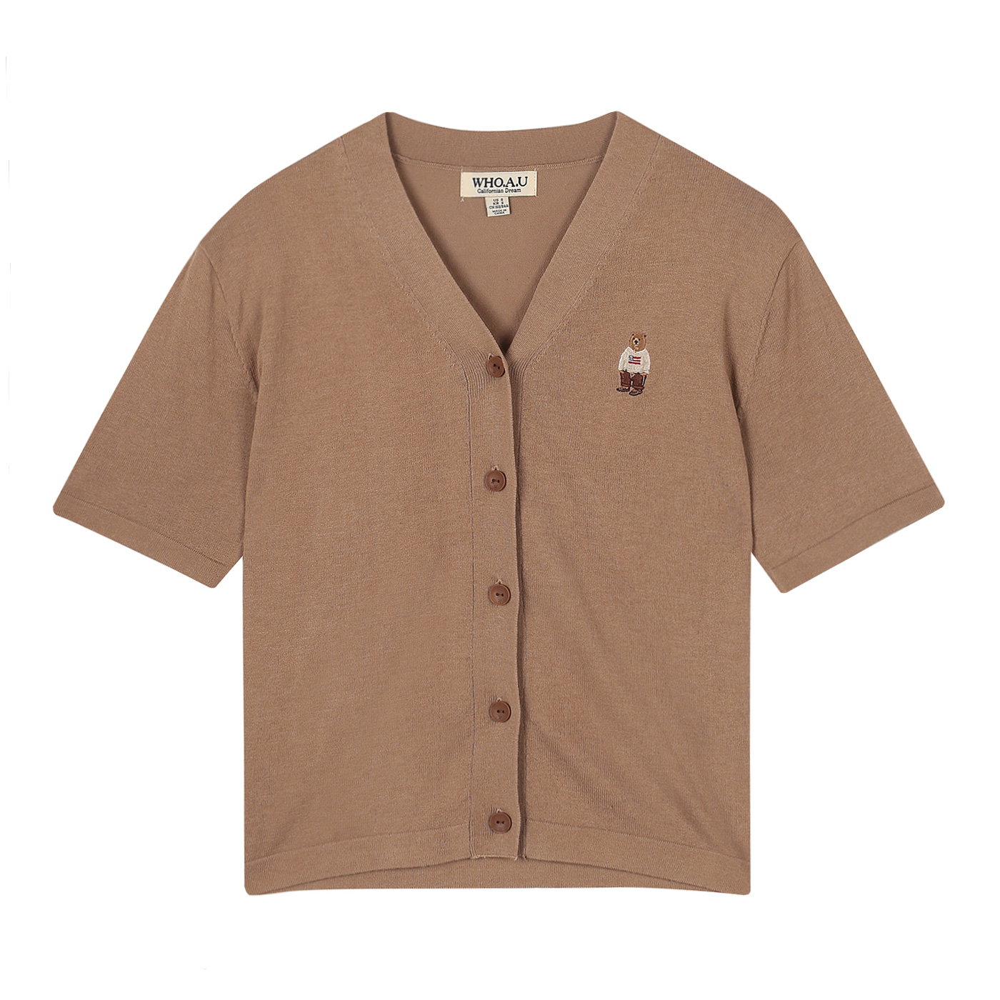 후아유 여성용 티브 반팔 스웨터 가디건 WHKAA3791F