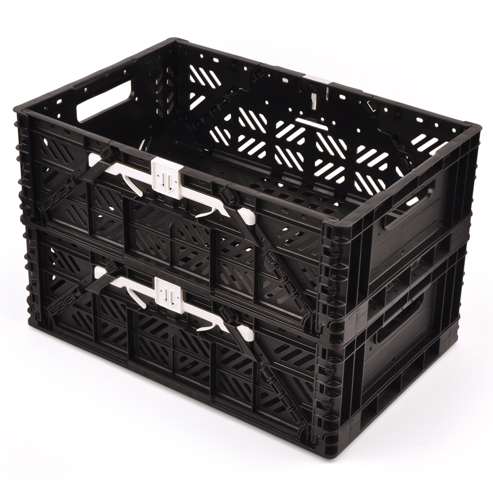 훠링 튼튼이 하드프레임 접이식 트렁크 정리함 2p, 블랙