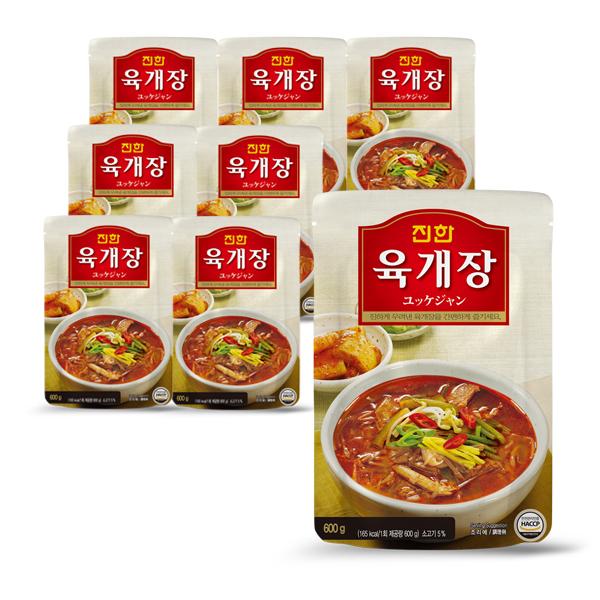 [보양식] 진한 육개장, 600g, 8개 - 랭킹37위 (26800원)