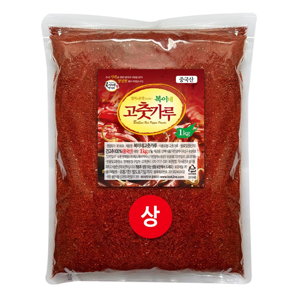 복이네먹거리 고춧가루 보통맛 김치용 상, 1kg, 1개