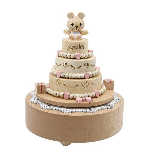 우든크래프트 곰돌이의 생일케이크 오르골 YP1513, 혼합색상