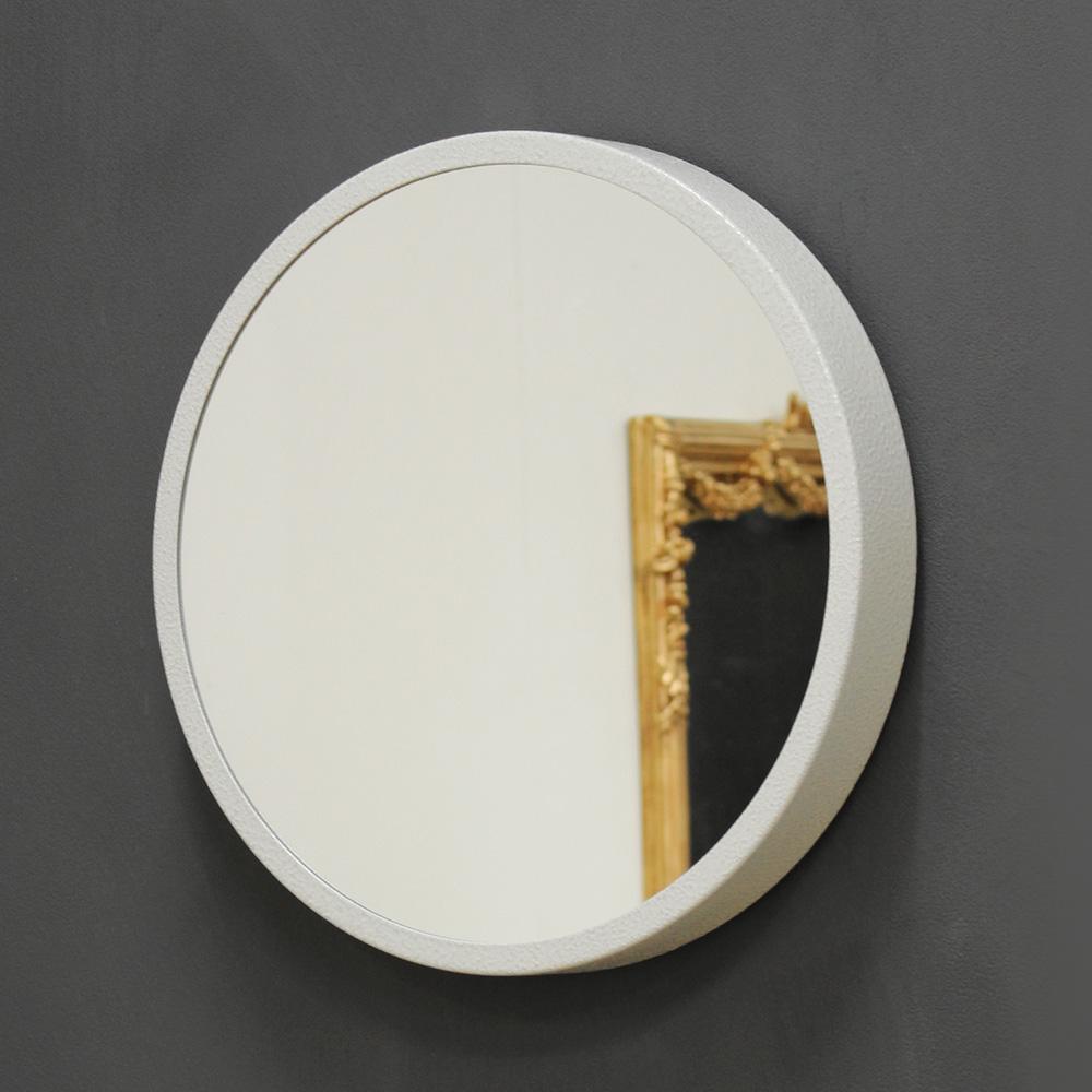 키다리 스틸 원형 거울 kdrz147 화이트, 혼합색상
