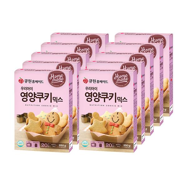 큐원 우리아이 영양쿠키믹스, 250g, 10개