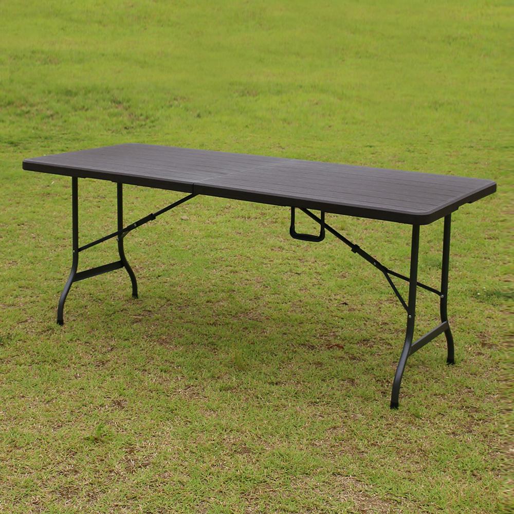 위드퍼니처 아르망 1800 브로몰딩 접이식 테이블, 브라운