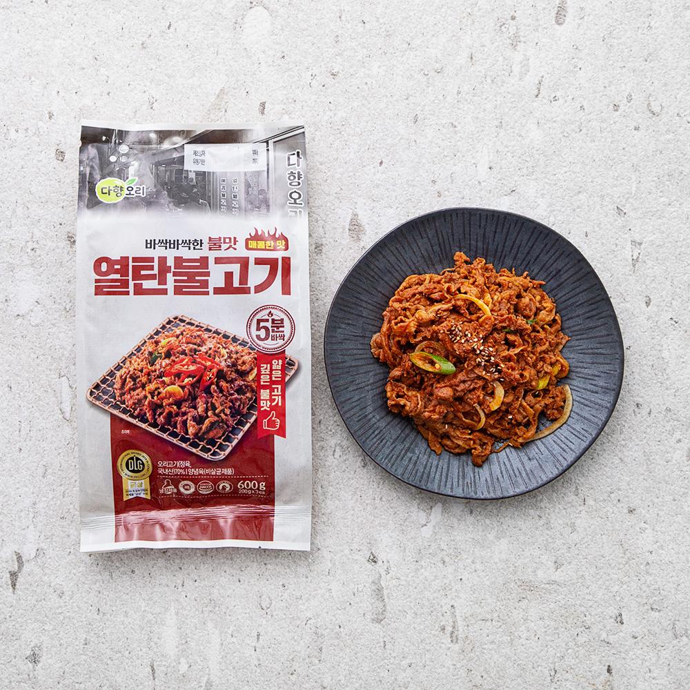 다향오리 열탄불고기 매콤한맛, 600g, 1개