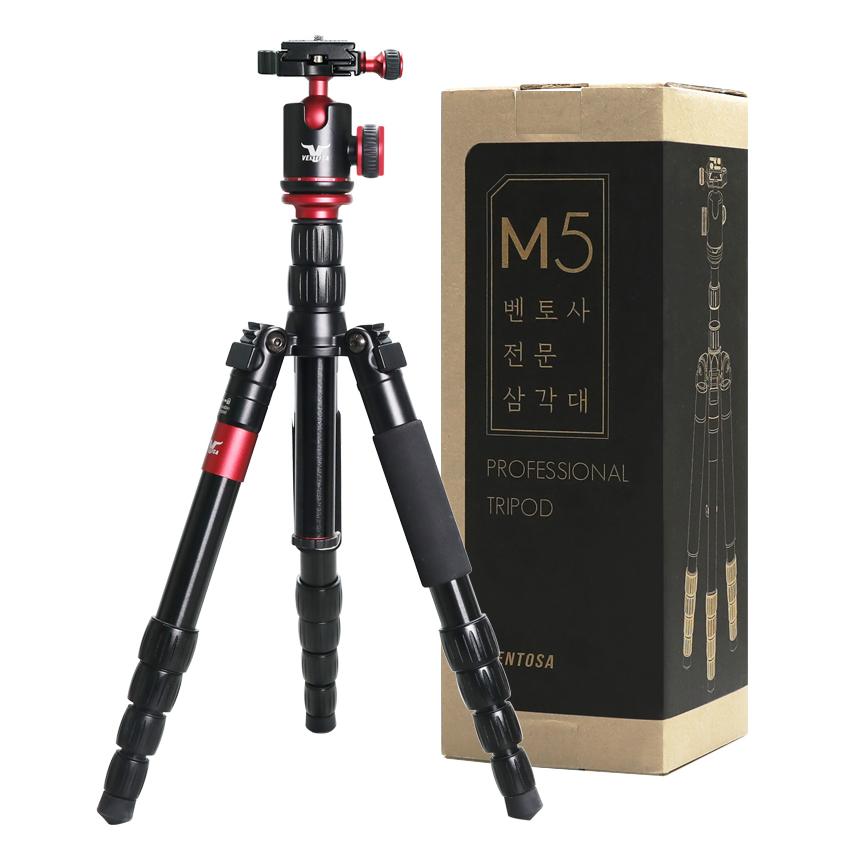 벤토사 M5 스마트폰 카메라 볼헤드 삼각대 와인, VTS-PRO-M5