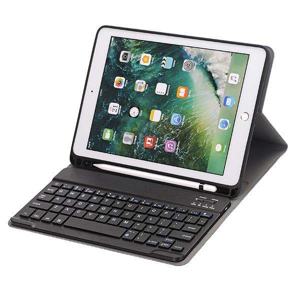 애플펜슬 수납형 블루트스 키보드 케이스 1030, 검정, 10.2(7세대)
