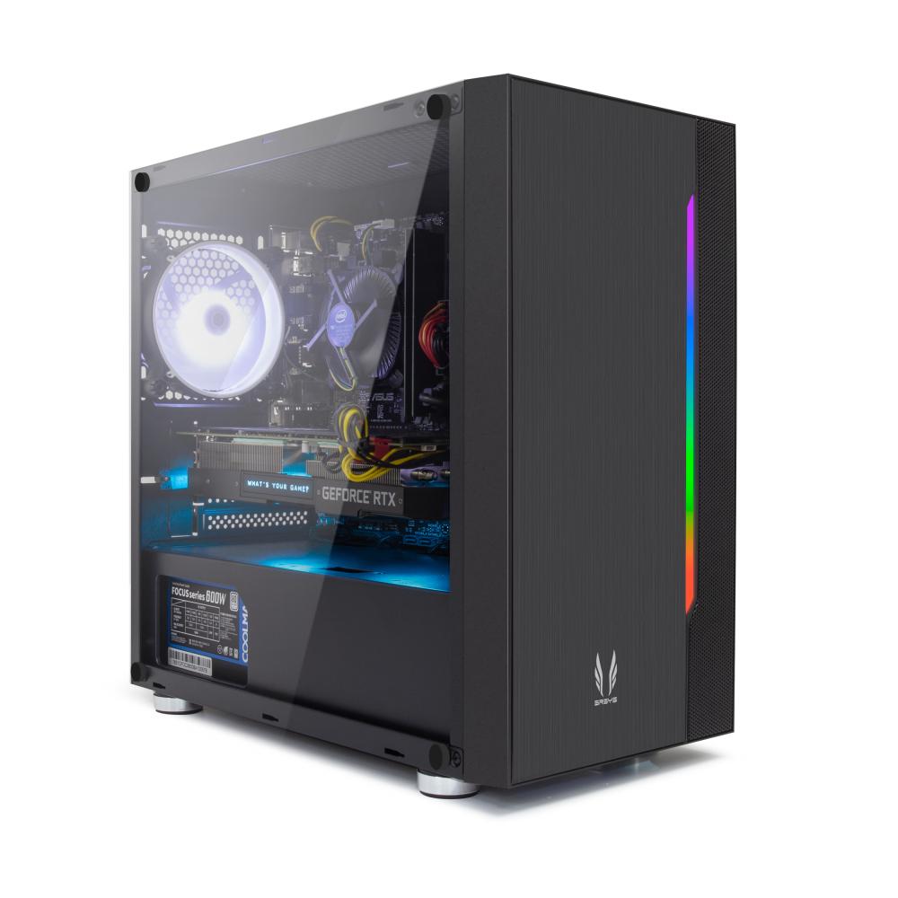 프리플로우 조립 PC 블랙 ELITE GAMING i5 플러스 (i5-10400F WIN미포함 RAM 8GB SSD 240GB GTX1660 SUPER), 기본형
