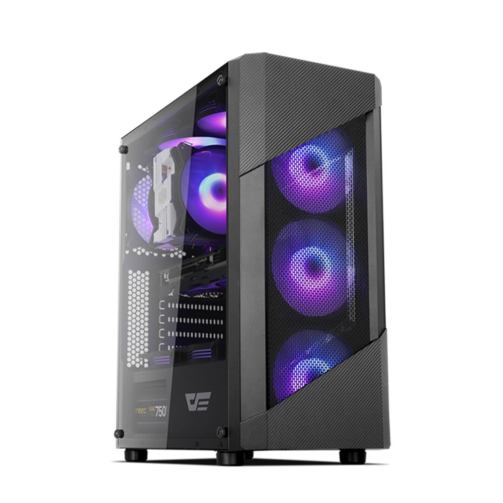 프리플로우 조립 PC 블랙 HELLO CREATOR 3505S (라이젠5 3500 WIN미포함 RAM 16GB NVMe 250GB GTX1650 SUPER), 기본형