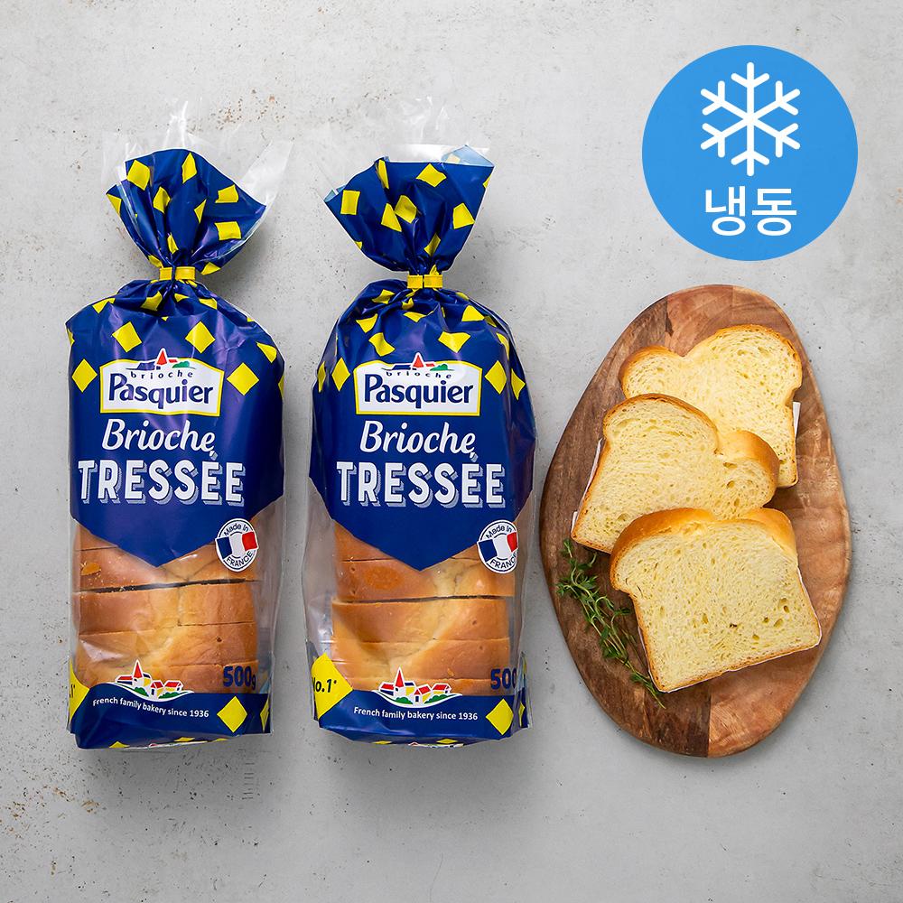 파스키에 브리오슈 트레쎄 식빵 (냉동), 500g, 2팩