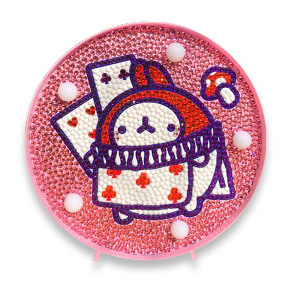 케이엠엘리 몰랑이 무드등 DIY 보석십자수 14.7 x 14.7 cm, 엘리스 몰랑이, 1세트