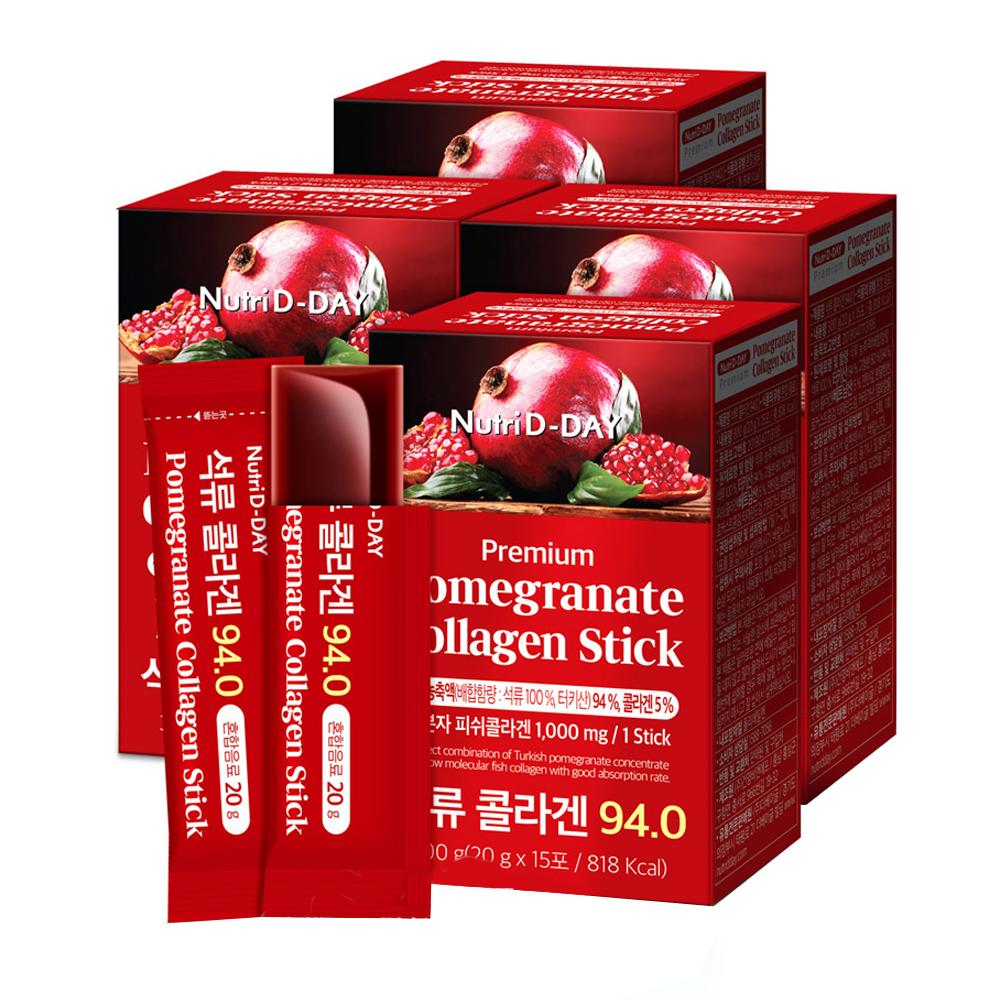 뉴트리디데이 석류 콜라겐 젤리스틱 94.0, 20g, 60개