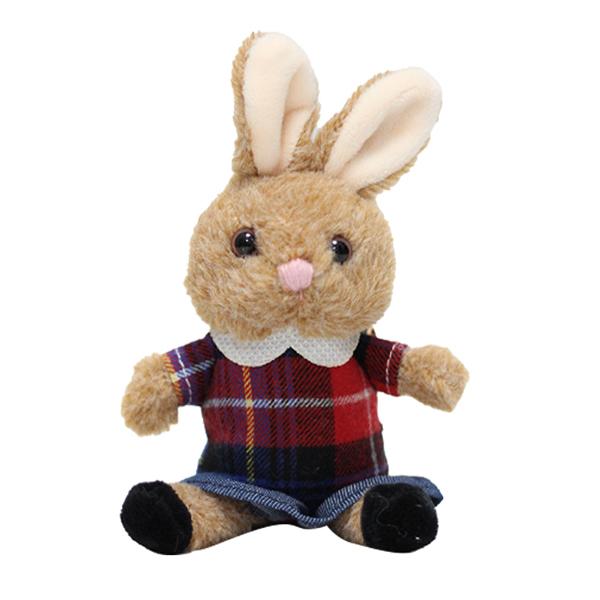 버디버니 치마 토끼 가방 고리, 14cm, 레드