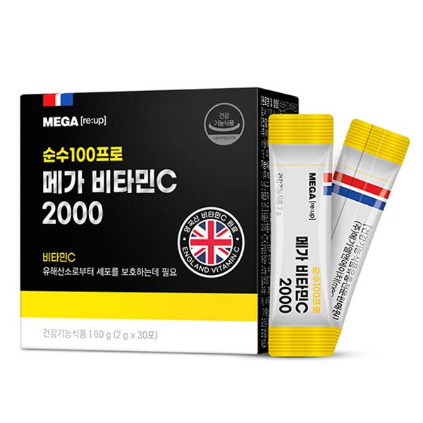 메가리업 메가 비타민C 2000, 2g, 30개