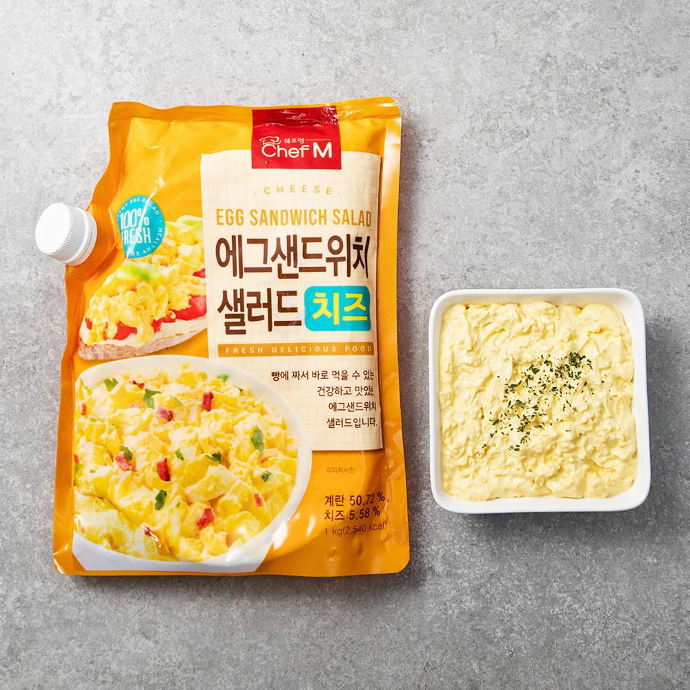 쉐프엠 치즈에그 샐러드, 1kg, 1개