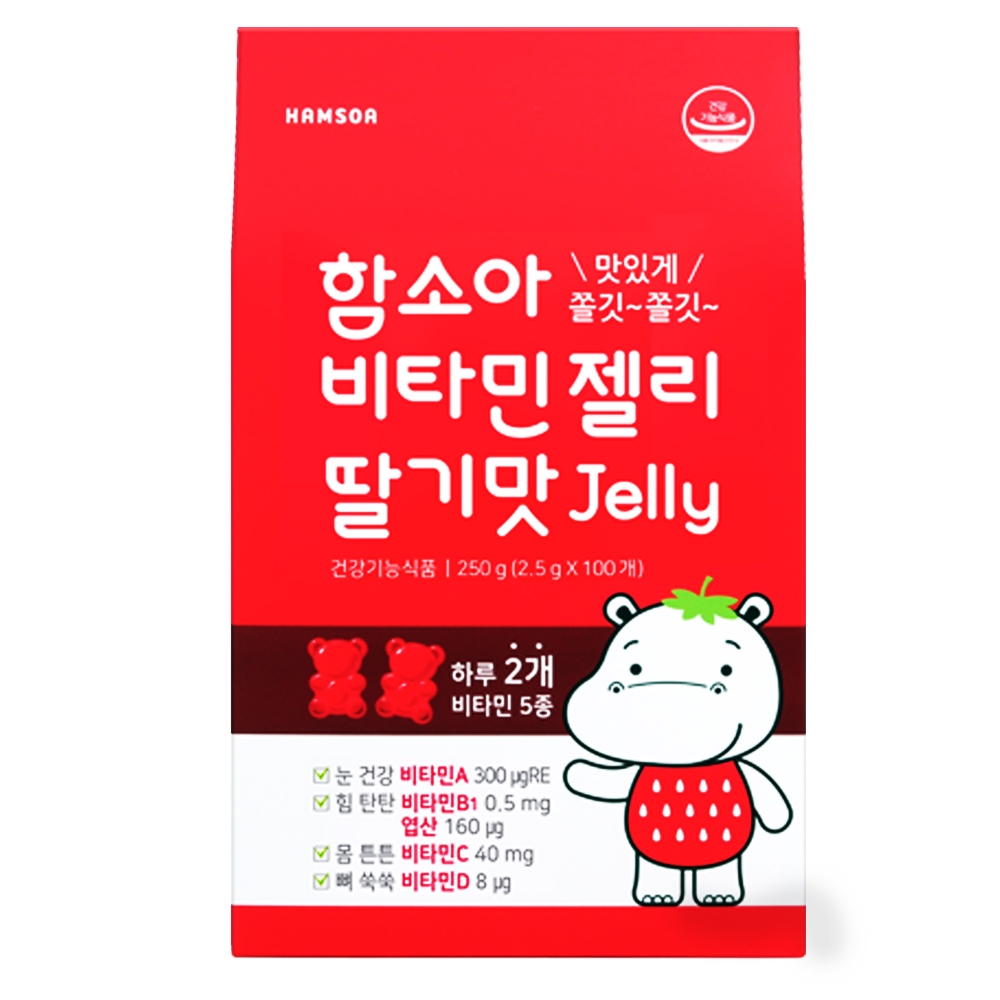 함소아 비타민젤리 딸기맛, 100정, 1개