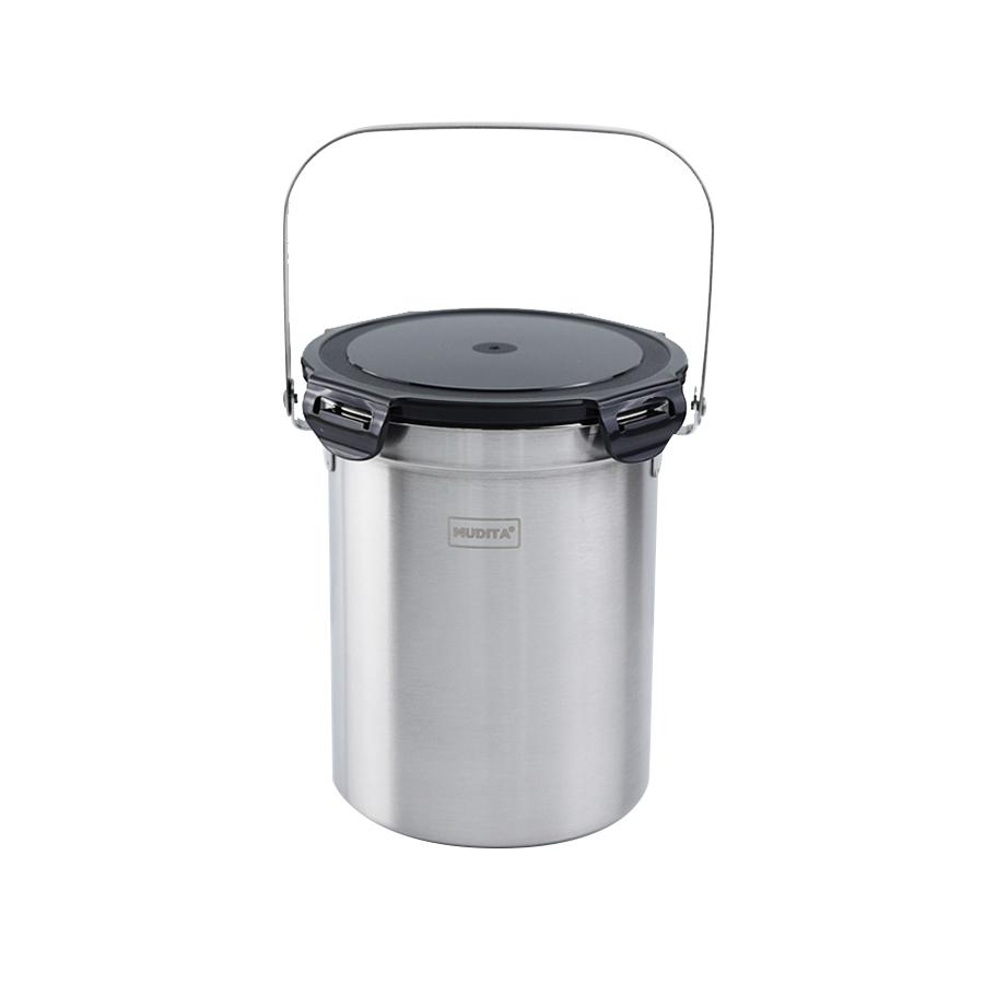 무디타 음식물 쓰레기통 밀폐뚜껑 3L, 혼합색상