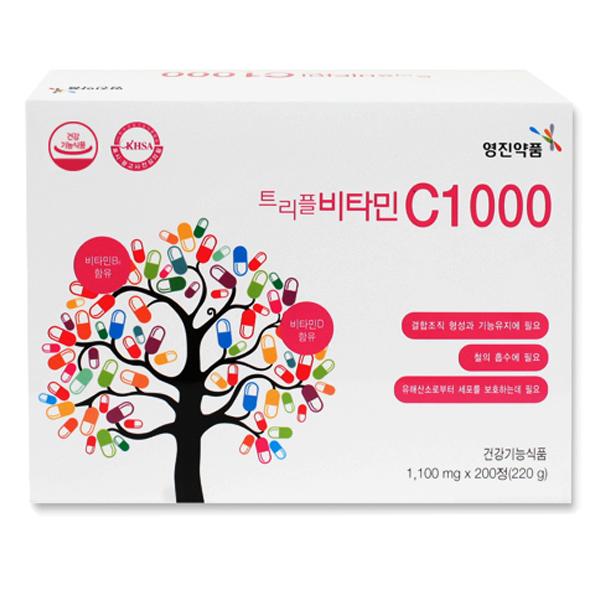 영진약품 트리플 비타민 C1000, 200정, 1개