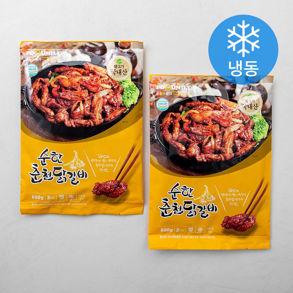 푸드밀리 순한 춘천닭갈비 (냉동), 600g, 2개
