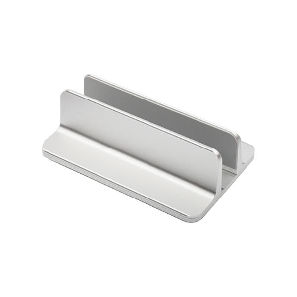 텝토 프리미엄 알루미늄 맥북 노트북 스탠드 세로 거치식 길이 조절 스탠드, 실버