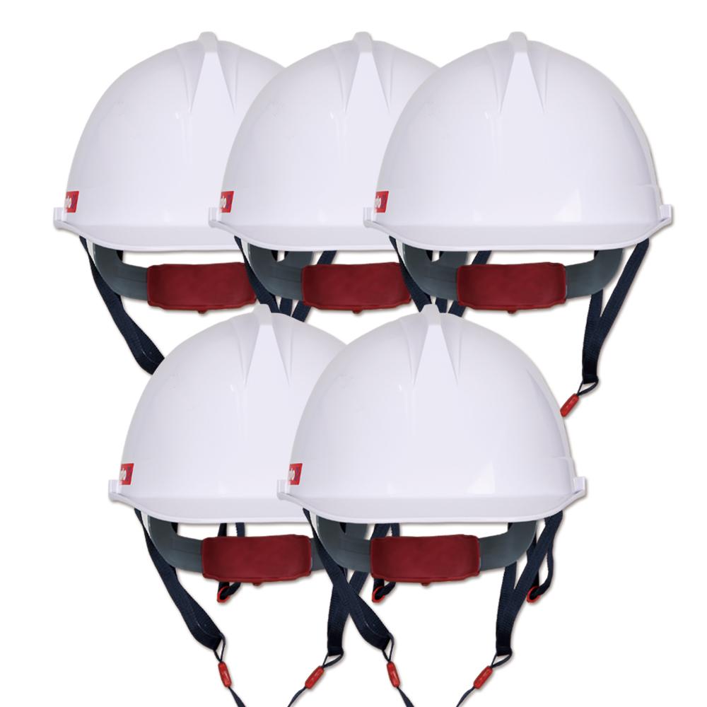 워크맨 투구 귀덮개 안전모 백색 WH-03, 5개