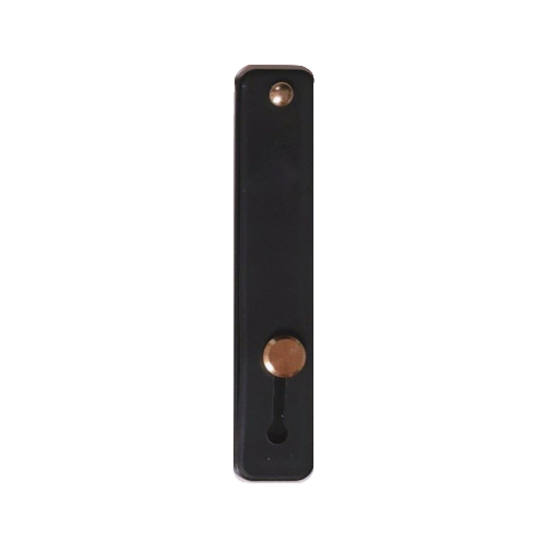 루다컴퍼니 파스텔톤 접착형 스마트폰 거치대 밴드 핑거 스트랩, 블랙, 1개