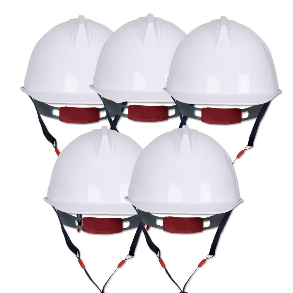 워크맨 투구 자동 안전모 백색 WH-01, 5개