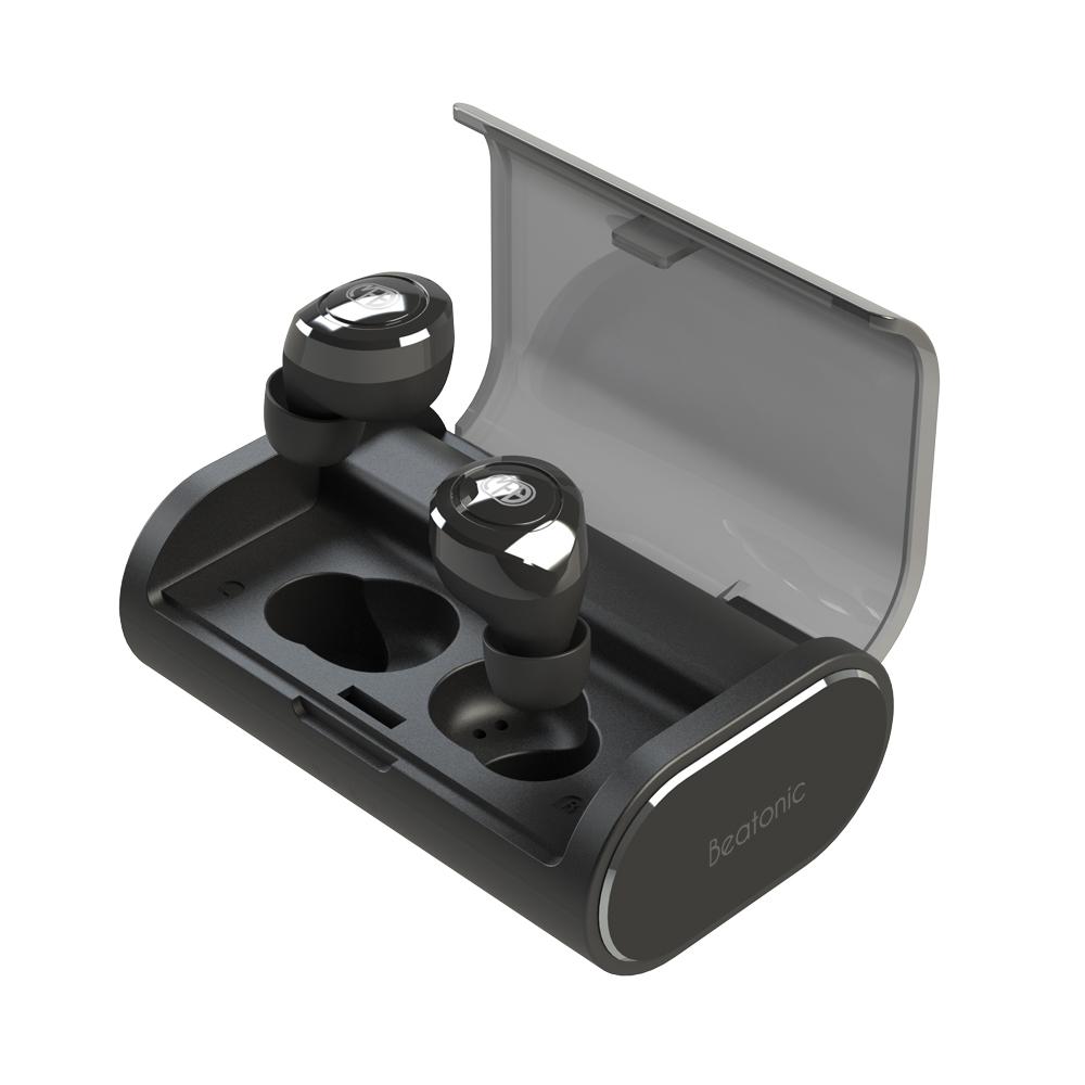 앱코 BEATONIC 블루투스 이어폰, E10, 블랙