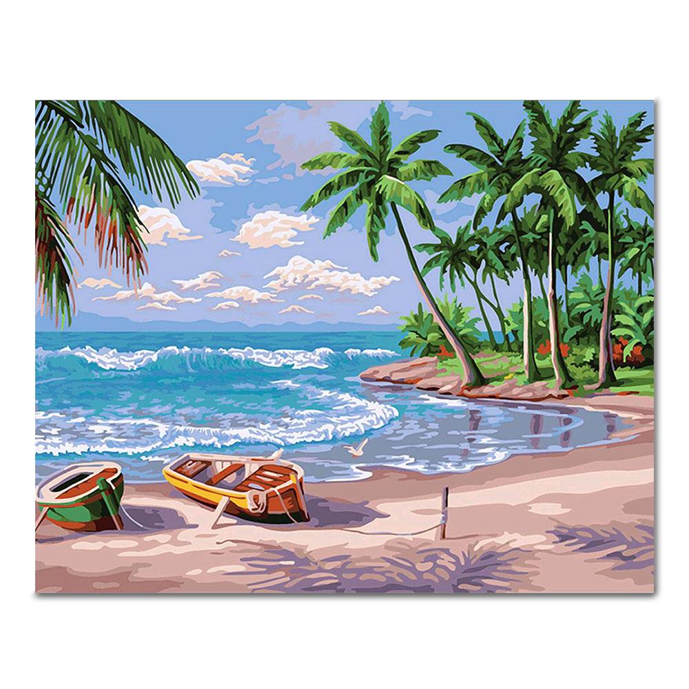 아디코 DIY 명화 그리기 하와이의 해변, 혼합색상