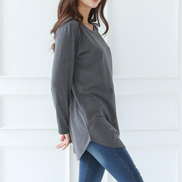 토마토팩토리 여성용 레이어드 롱 긴팔 티셔츠