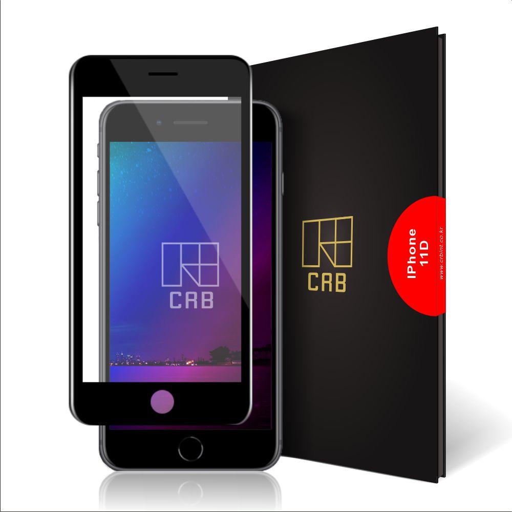CRB 11D 풀커버 휴대폰 강화유리필름 블랙, 1개