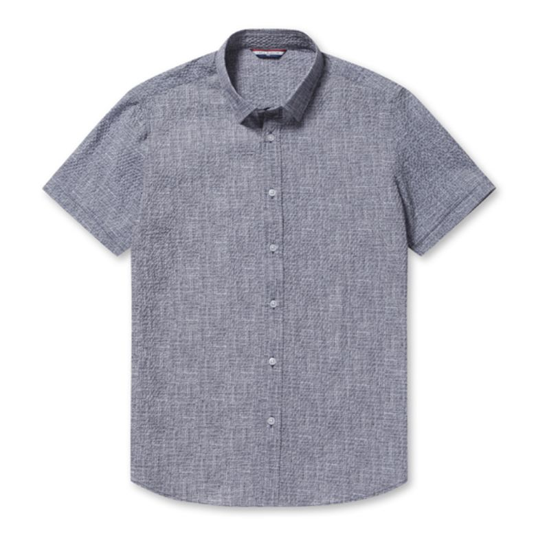 까르뜨블랑슈 남성용 잔조직 프린트 써커 셔츠 CMM0WS06