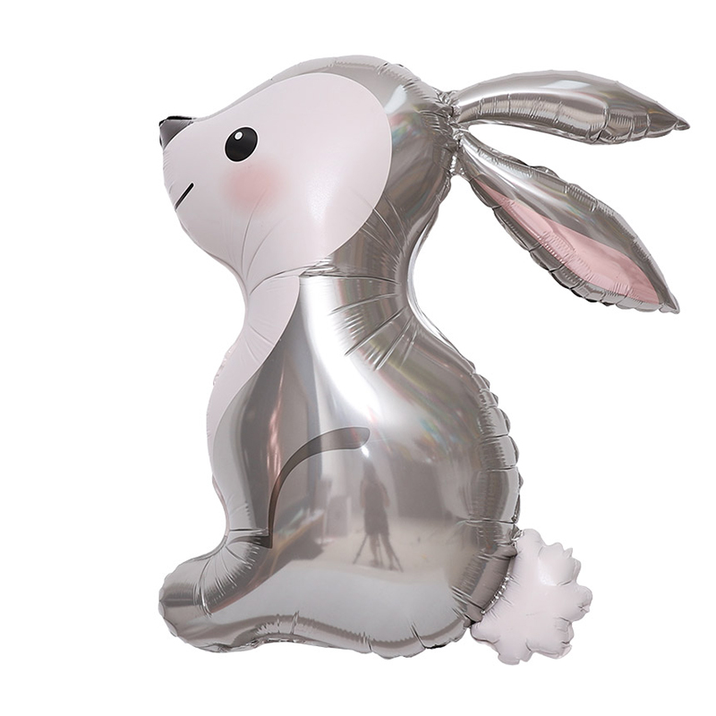 그라보벌룬 아기토끼 은박풍선, 그레이, 1개