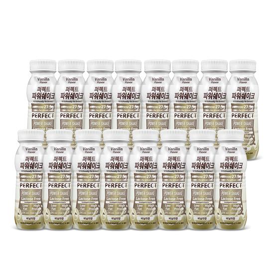 칼로바이 퍼펙트파워쉐이크 헬스 단백질 보충제 바닐라, 275ml, 16개