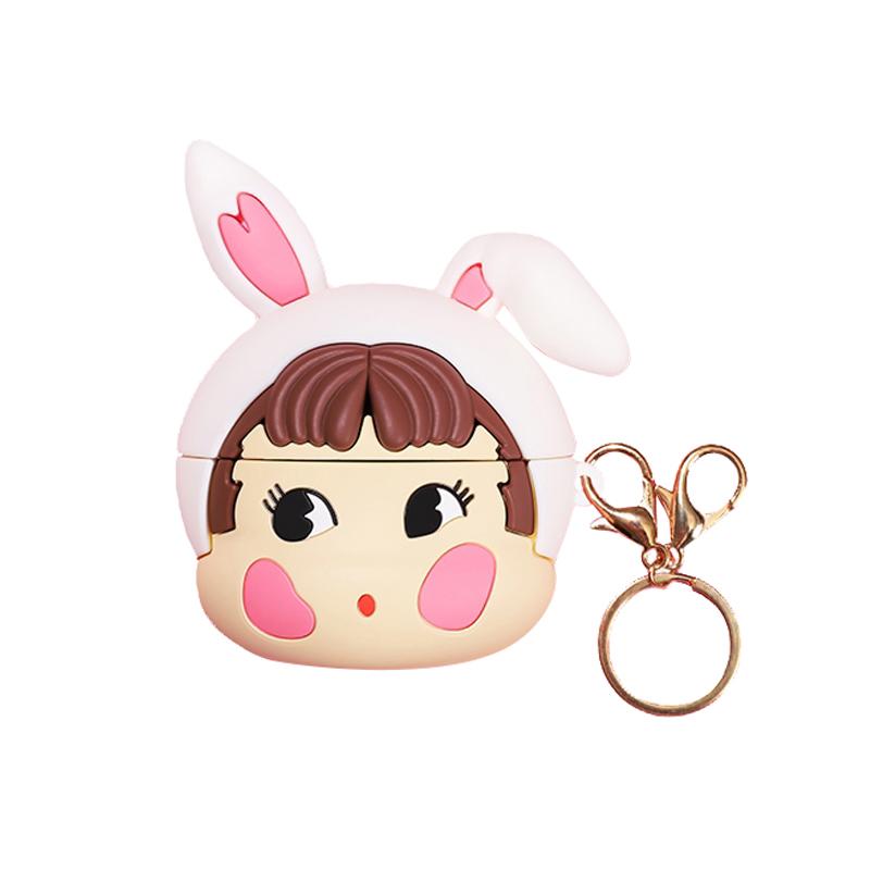 폰슈 토끼소녀 프로 3세대용 에어팟 케이스, 단일상품, 화이트