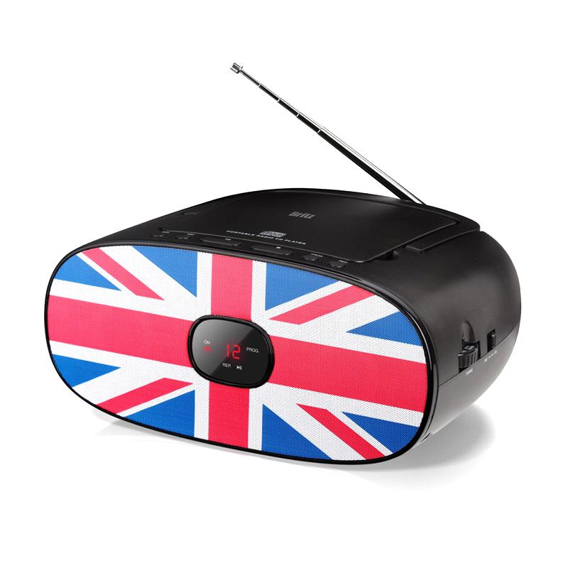 브리츠 휴대용 CD플레이어 FM 라디오, BA-MK35, 혼합색상