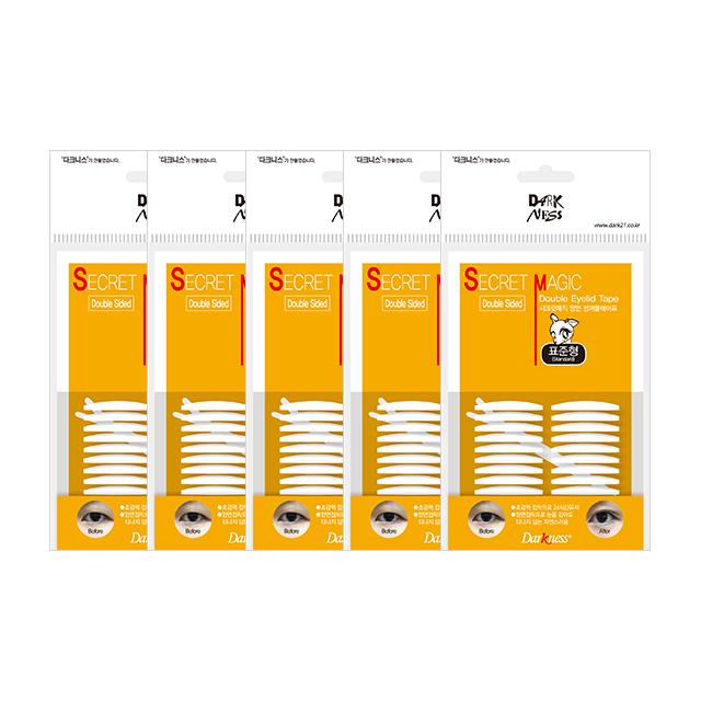 다크니스 시크릿 고급 양면 쌍꺼풀테이프 표준형 44p, 5세트