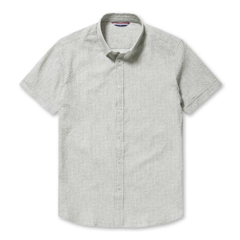 까르뜨블랑슈 남성용 잔조직 프린트 써커셔츠 CMM0WS06