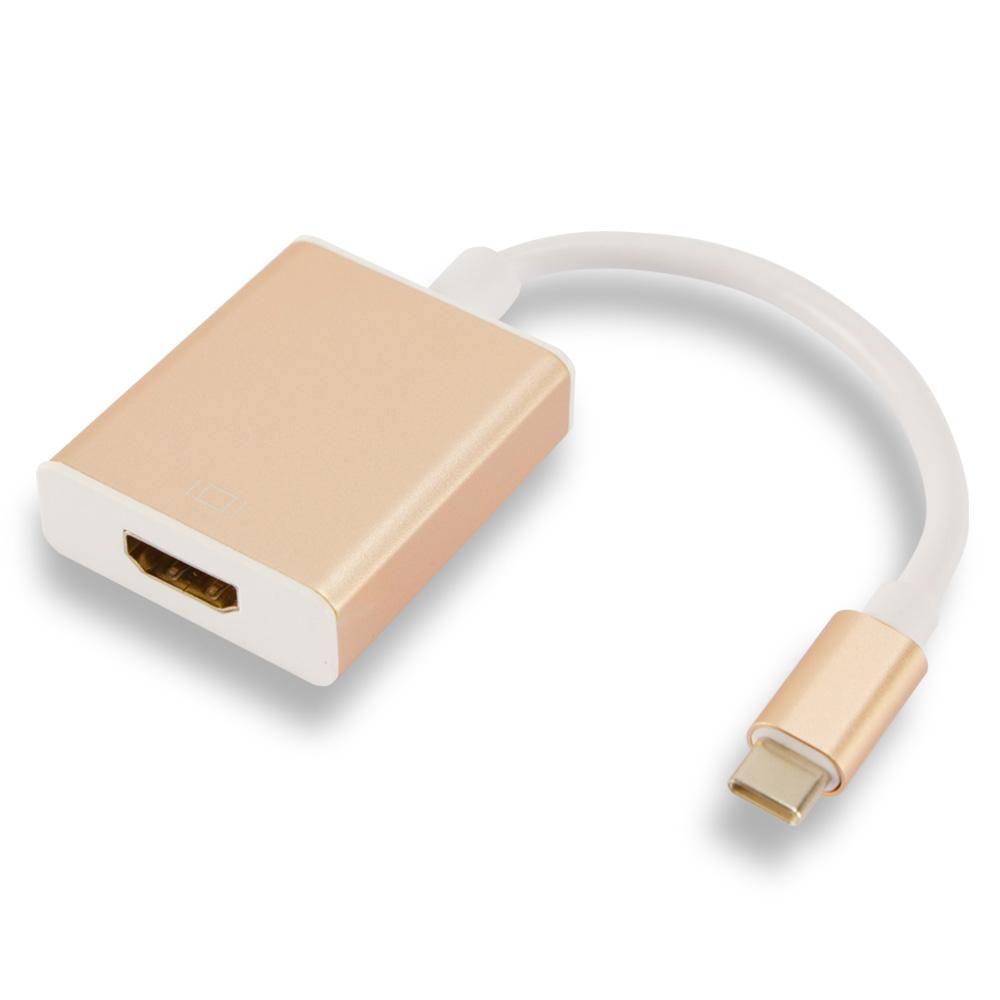칼론 HDMI C타입 스마트폰 변환 컨버터, KC-HG01(골드)