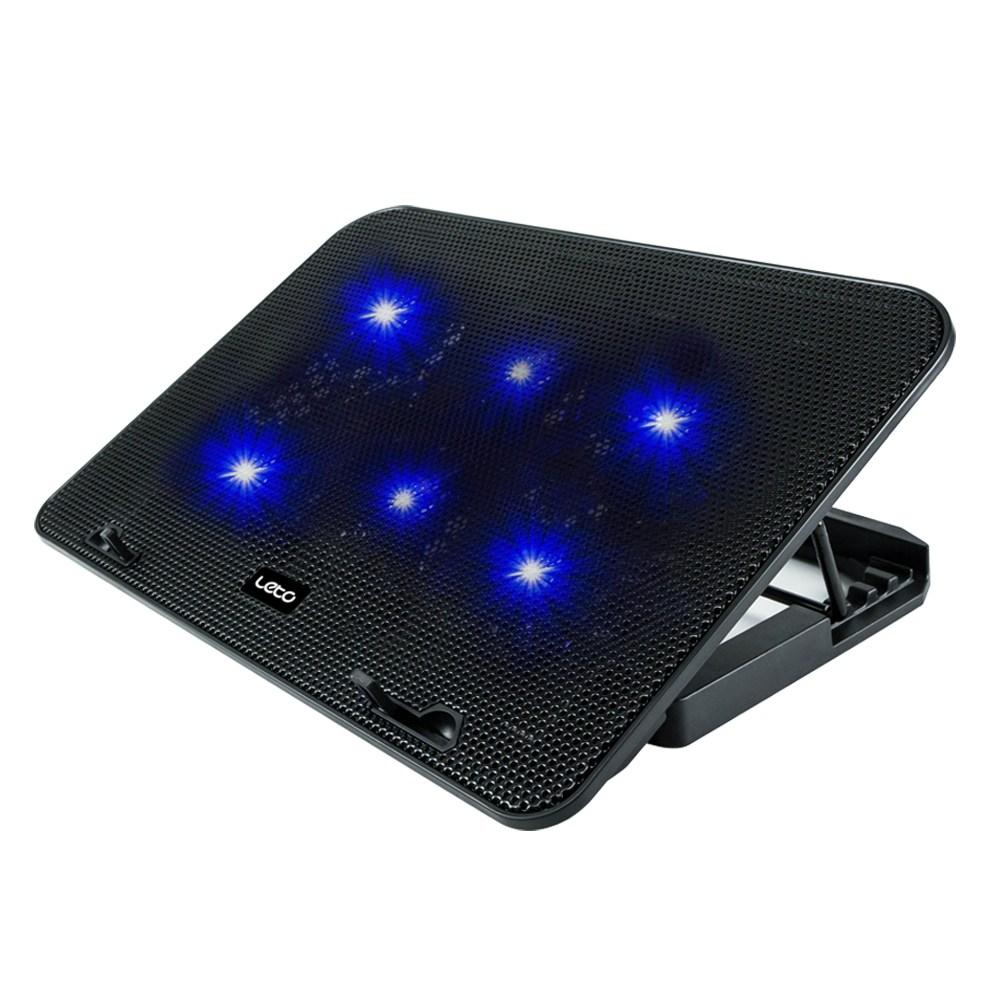 레토 노트북 LED 헥사 쿨러 거치대 LCS-C06, 혼합색상