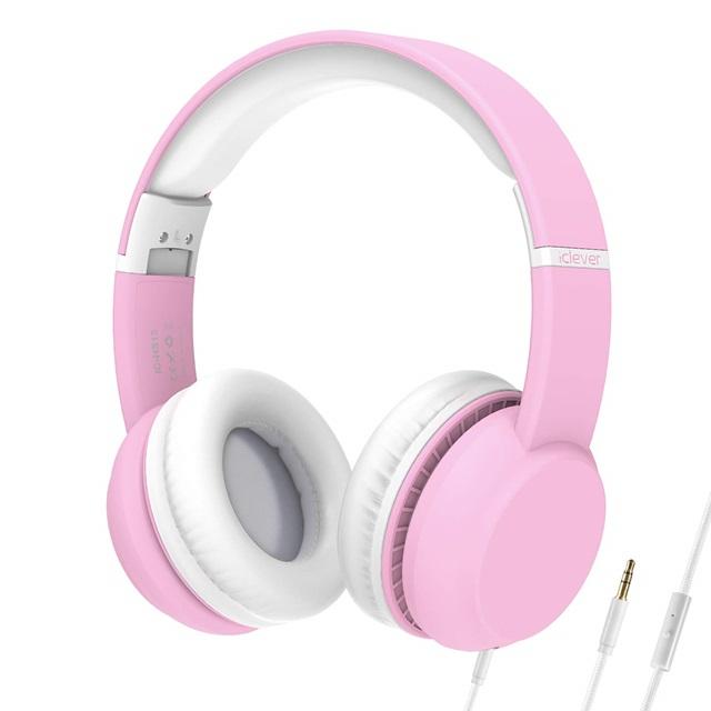 아이클레버 어린이 폴더블 헤드셋, 단일상품, 핑크